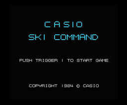 Ski Command (1985, MSX, Casio)