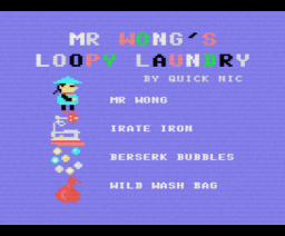 Mr. Wong's Loopy Laundry (1984, MSX, Artic Computing)