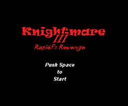 Knightmare III: Raziël Revenge (2008, MSX, RyJuZo)