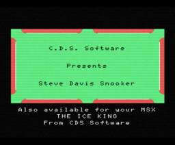 Steve Davis Snooker (1986, MSX, CDS Software)