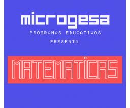 Matemáticas (1985, MSX, Microgesa)
