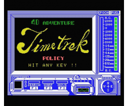 Time Trek (1985, MSX, Policy)