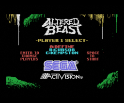 Altered Beast (1988, MSX, SEGA, Activision)