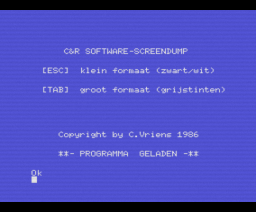 MSX Screendump (1986, MSX, C&R Software)