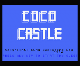 Coco Castle (1984, MSX, Kuma Computers)