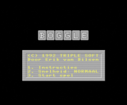 Boggle (1992, MSX2, Triple Soft)