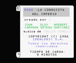 Roma - La Conquista del Imperio (1986, MSX, Idealogic)