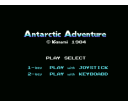 Antarctic Adventure (1983, MSX, Konami)