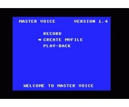 Mastervoice Wordstore (1985, MSX, Aackosoft)