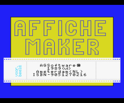 Affiche-Maker (1989, MSX2, A.G. Software)