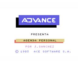 Agenda Personal (1985, MSX, Ace Software S.A., J. Sánchez Armas)