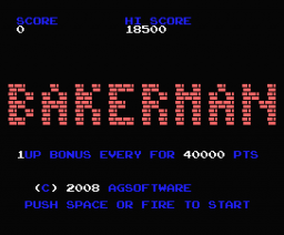 Bakerman (2008, MSX, AG Software)