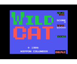 Wild Cat (1985, MSX, Nippon Columbia / Colpax / Universal)