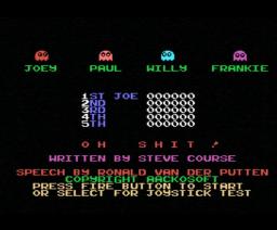 Oh Shit! (1985, MSX, Aackosoft)
