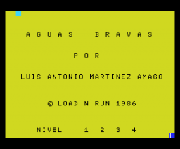 Aguas Bravas (1986, MSX, Load 'n' Run)