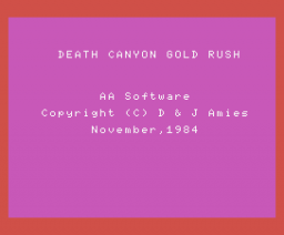 Death Valley Gold Rush (1984, MSX, AA Software)