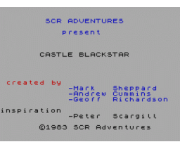 Castle Blackstar (1986, MSX, CDS Software)