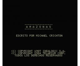 Amazon (1987, MSX2, Telarium)