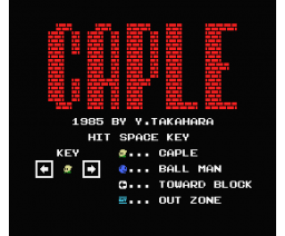 Caple (1985, MSX, Y. Takahara)