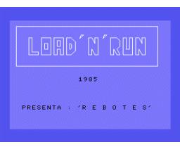 Rebotes (1985, MSX, Infopress)