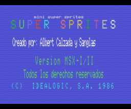 Super Sprites (1986, MSX, Idealogic)