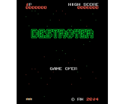 Destroyer (2014, MSX, CEZ GS, RetroWorks)