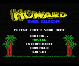 Howard The Duck (1986, MSX, Activision)