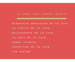 Aprende astronomía con La Luna (MSX, Grupo de Trabajo Software (G.T.S.))