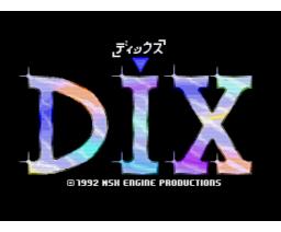 DIX (1992, MSX2, MSX2+, MSX Club GHQ, MSX-Engine)
