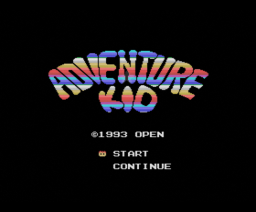 Adventure Kid (1992, MSX, Open Production)