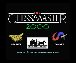 Chessmaster 2000, The (1990, MSX, Gamart)