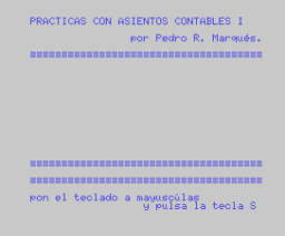 Contabilidad I (MSX, Mind Games España)