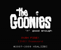 The Goonies 'R' Good Enough (2009, MSX, MSX2, MSX2+, Kralizec)