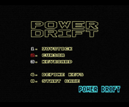 Power Drift (1989, MSX, Sega)