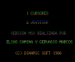 Camelot Warriors (1986, MSX, Dinamic)