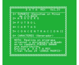 Data MSX Vol. IV (MSX, GEASA)
