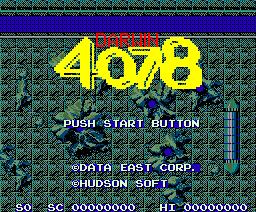 Darwin 4078 (1987, MSX2, Data East)
