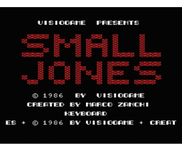 Small Jones (1986, MSX, Visiogame)