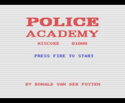 Police Academy (1987, MSX, The Bytebusters)