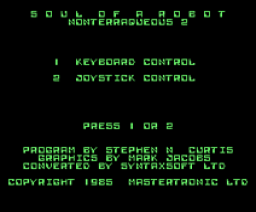 Soul of a Robot (1987, MSX, Mastertronic)