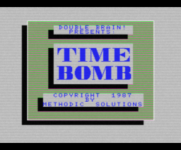 Time Bomb (1987, MSX, MSX2, Methodic Solutions, Double Brain!)