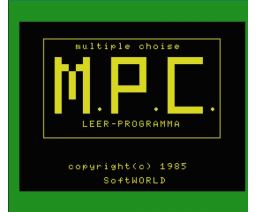 Teach MSX (1985, MSX, SoftWorld)