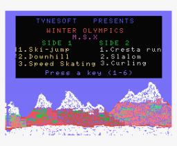 Winter Olympics (1986, MSX, Tynesoft)