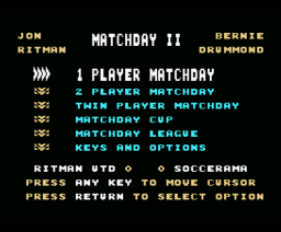 Match day II (1987, MSX, Ocean)
