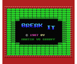 Break-It (1987, MSX, Martin van der Graaff)