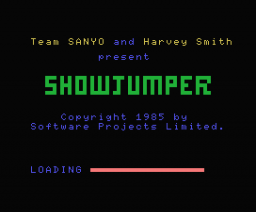 Harvey Smith's Showjumper (1985, MSX, Software Projects)