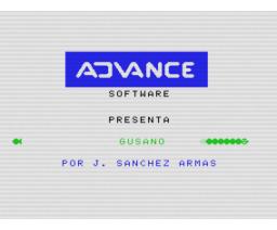 Gusano (1985, MSX, J. Sánchez Armas)