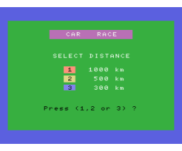 Car Race (MSX, Unknown)