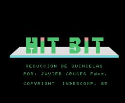 Quinielas y Reducciones (1985, MSX, Indescomp)