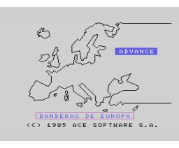 Banderas de Europa (1984, MSX, Ace Software S.A.)